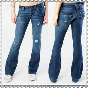 *Hudson Boot Cut Distressed Jeans 30*